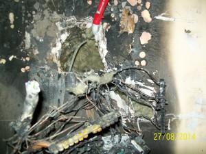 zdjęcie pożaru w wyniku źle dobranych zabepieczeń